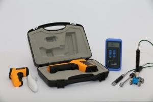 מכשירי מדידת טמפרטורה כולל בקרה אינפרה רד ובדיקת שטח